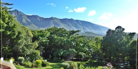 Braeside Guest House, Large garden with view of Langeberg Mountains