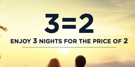 3 Nights = pay for 2