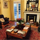Braeside Guest House, Lounge with fireplace, relaxing, books