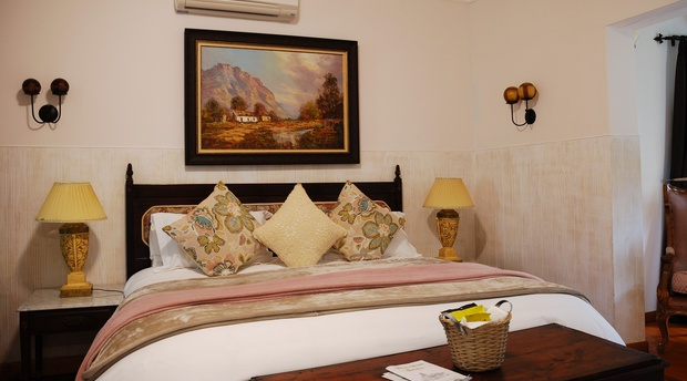 Swellendam Accommodation,  Langenhoven Room, King size bed en-suite room with private patio.,