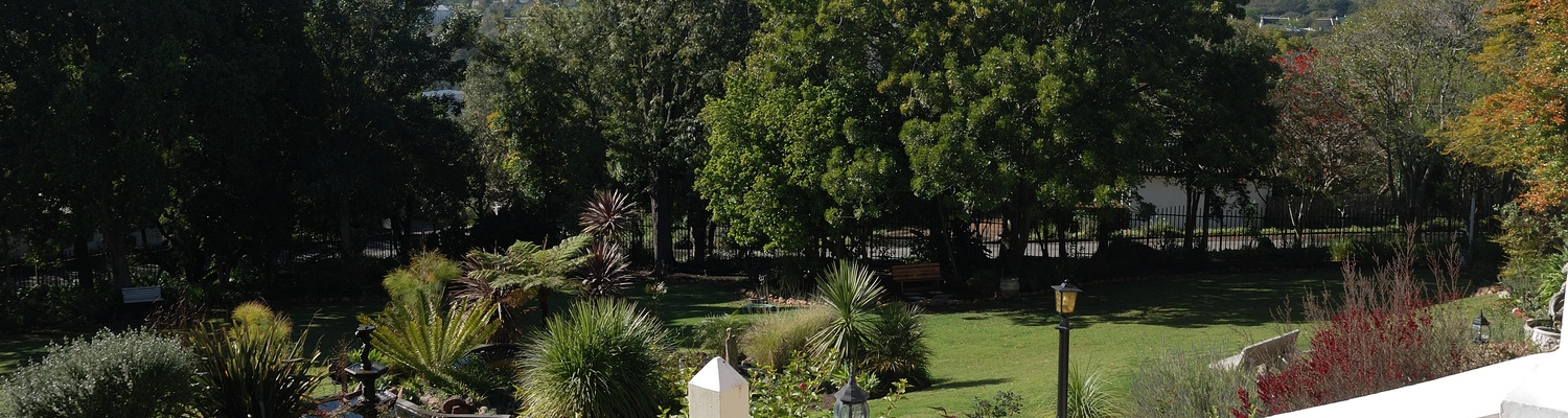Swellendam Accommodaion Braeside Guest House Patio View